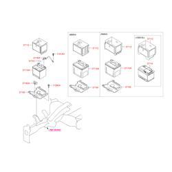 Купить аккумулятор Киа Спортейдж 2014 (Hyundai-KIA) 371101D600