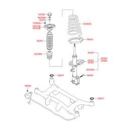 Втулка амортизатора (Hyundai-KIA) 5531329000