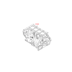 Блок цилиндров (Hyundai-KIA) 254F22FU00