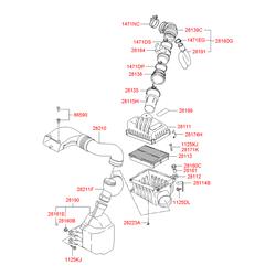 Резонатор на Киа Спортейдж 2 (Hyundai-KIA) 281901F000