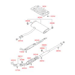 Гофра глушителя (Hyundai-KIA) 286102S100