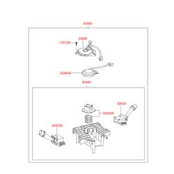 Датчик положения руля (Hyundai-KIA) 934802E100