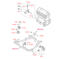 Опора двигателя Киа Спортейдж (Hyundai-KIA) 218102E200