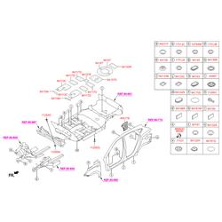 Купить защиту картера двигателя Киа Спортейдж 4 (Hyundai-KIA) 841372Z000
