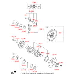 Маховик (Hyundai-KIA) 232002F050