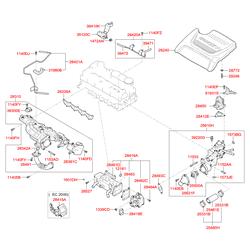Впускной коллектор (Hyundai-KIA) 283102F310