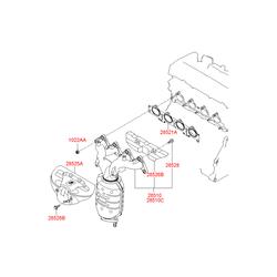 Купить выпускной коллектор Киа Спортейдж 2 (Hyundai-KIA) 2851023AC0