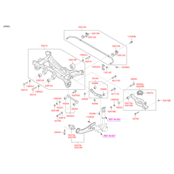 Задний мост (Hyundai-KIA) 554052S110