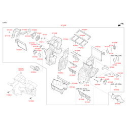 Купить вентилятор отопителя Киа Спортейдж (Hyundai-KIA) 971132Y000