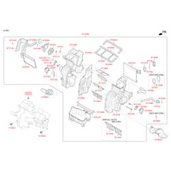 Купить вентилятор печки Киа Спортейдж (Hyundai-KIA) 971132Y000