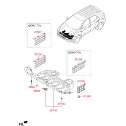 Ручки двери (Hyundai-KIA) 291302S000