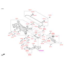 Купить задний стабилизатор на Киа Спортейдж (Hyundai-KIA) 555103W000