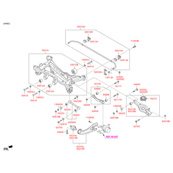 Купить стабилизатор поперечной устойчивости Киа Спортейдж (Hyundai-KIA) 555103W000