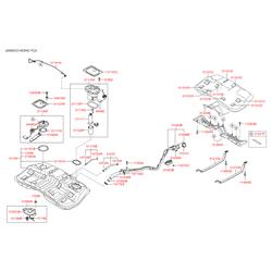 Топливный бак Киа Спортейдж 2 (Hyundai-KIA) 311502E100