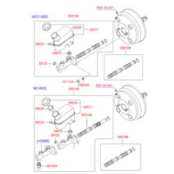 Купить главный тормозной цилиндр Киа Спортейдж 1 (Hyundai-KIA) 585101F510