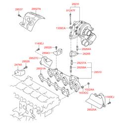 Купить турбину Киа Спортейдж 3 дизель (Hyundai-KIA) 282312F300