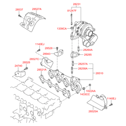 Купить турбину на Киа Спортейдж 2 дизель (Hyundai-KIA) 282312F300