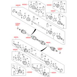 Шрус Киа Спортейдж 2012 (Hyundai-KIA) 495922Y600