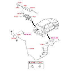Задняя щетка стеклоочистителя (Hyundai-KIA) 988501P000
