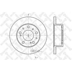 Диск тормозной передний (Stellox) 60209908SX
