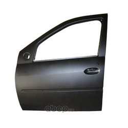 Дверь передняя левая Рено Логан без отверстий под молдинг каталожный номер 801016598R купить (RENAULT) 801016598R
