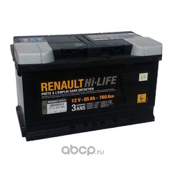 Аккумулятор для Рено Сценик 1.9 дизель купить (RENAULT) 7711419085