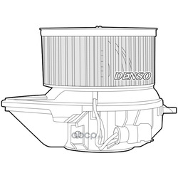 Моторчик печки Рено Сценик 1 аналоги цена (Denso) DEA23008