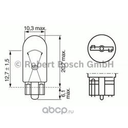 """Лампа накаливания"""" Pure Light W5W"""" 12В 5Вт (Bosch) 1987302206"""