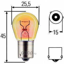 Лампа накаливания, фонарь указателя поворота (Hella) 8GA006841121