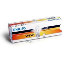 Лампа накаливания бесцокольная W5W 12V W2,1x9.5d (Philips) 12961CP