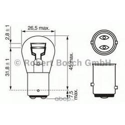 """Лампа накаливания"""" Pure Light P21/5W"""" 12В 21/5Вт (Bosch) 1987302202"""