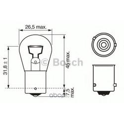 """Лампа накаливания"""" Pure Light PY21W"""" 12В 21Вт (Bosch) 1987302213"""
