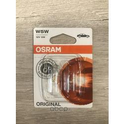 "Лампа накаливания, ""ORIGINAL LINE W5W"" 12В 5Вт, 2шт (Osram) 282502B"