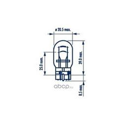 Лампа накаливания W21/5W бц, 12В 21/5Вт, W3x16d (Narva) 17919