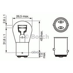 """Лампа накаливания"""" VisionPlus P21/5W"""" 12В 21/5Вт (Bosch) 1987302282"""