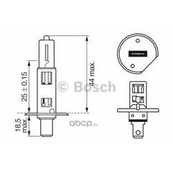 Лампа накаливания, фара дальнего света (Bosch) 1987302011