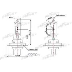 Лампа галогенная H7 12V 55W PX26d (PATRON) PLH71255