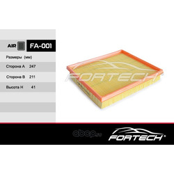 Фильтр воздушный (Fortech) FA001