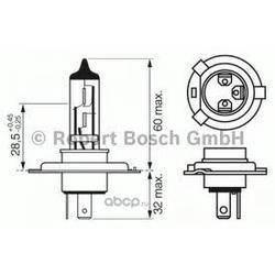 "Лампа галоген"" Pure Light H4"" 12В 60/55Вт (Bosch) 1987301001"