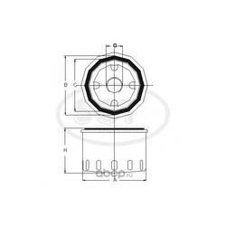 Масляный фильтр (SCT) SM109