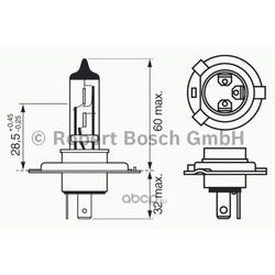 Лампа 12V60/55W (H4) (Bosch) 1987302041