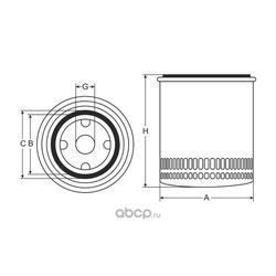 Фильтр масляный (SCT) SM103
