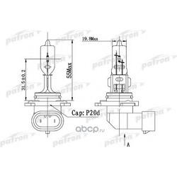 Лампа галогенная HB3 12V 60W P20d (PATRON) PLHB31260