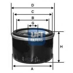 Масляный фильтр (UFI) 2325800