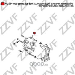Направляющая суппорта тормозного переднего (ZZVF) ZVPP089