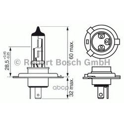 Лампа 12V60/55W (H4) (Bosch) 1987302042