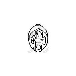 Сайлентблок крепления среднего глушителя спереди (Bosal) 255381