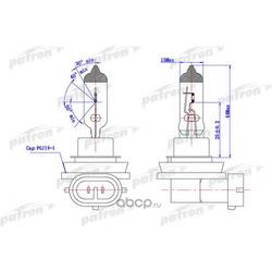 Лампа галогенная H8 12V 35W PGJ19-1 (PATRON) PLH81235