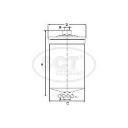 Фильтр топливный (SCT) ST329