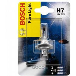 Лампа накаливания H7 (PX26d), 12В 55Вт, Pure Light, блистер 1шт (Bosch) 1987301012